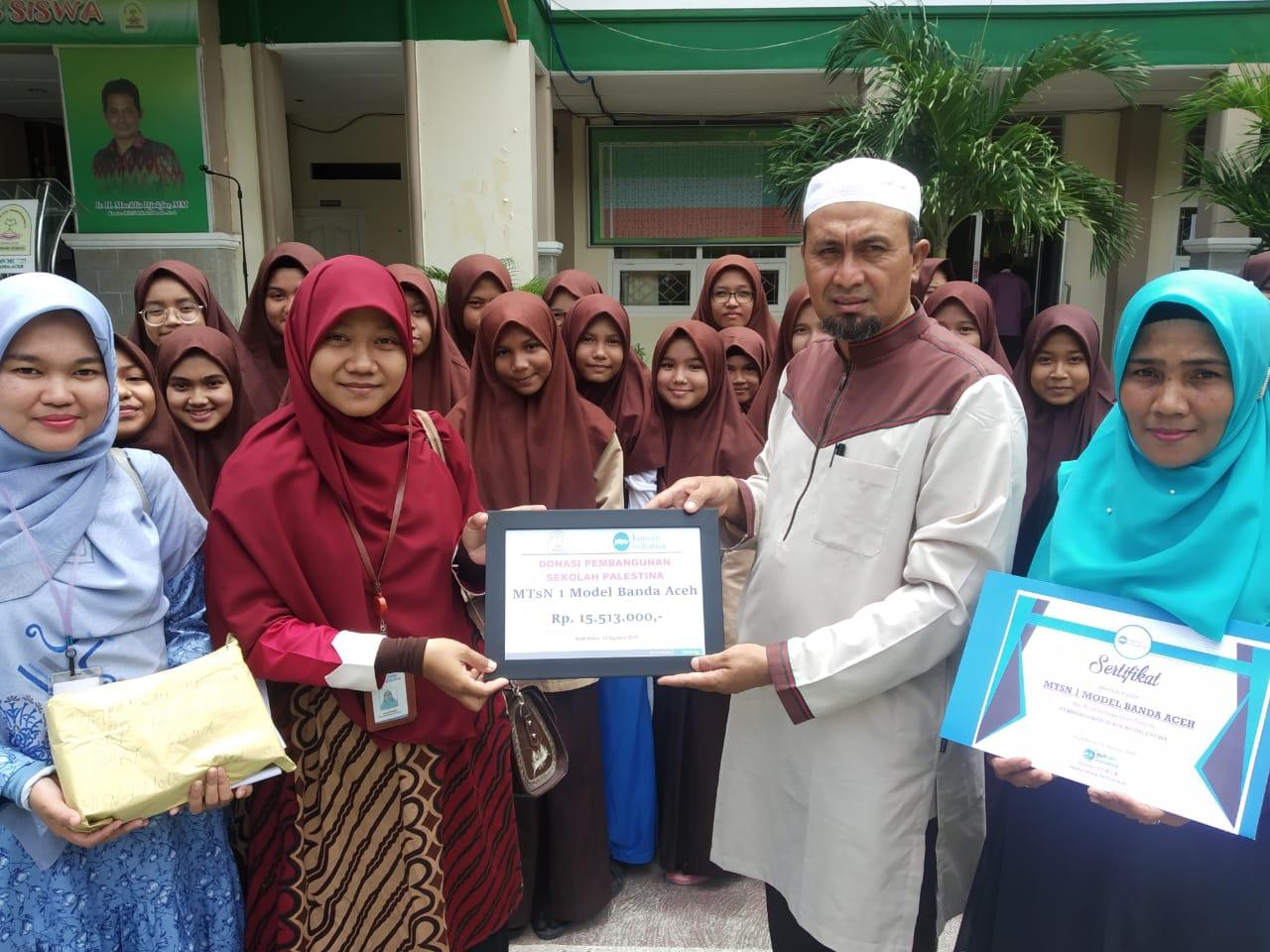 Mtsn Model Banda Aceh Donasi Pembangunan Sekolah Palestina Jurnal Pase